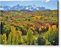 Acrylic Print featuring the photograph San Juan Mountains From Dallas Divide by Ray Mathis