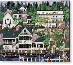 San Juan Roche Harbor Resort Acrylic Print by Jennifer Lake
