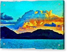 Acrylic Print featuring the painting San Juan Seascape by Joan Reese