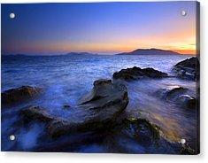 San Juan Sunset Acrylic Print by Mike  Dawson
