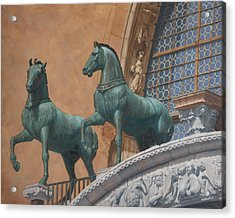 San Marco Horses Acrylic Print