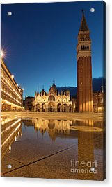 Acrylic Print featuring the photograph San Marco Twilight by Brian Jannsen