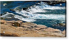 San Marcos River Waterfall  Acrylic Print by Ray Shrewsberry