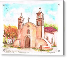 San Miguel Catholic Church, Socorro, New Mexico Acrylic Print by Carlos G Groppa