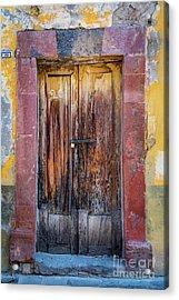 San Miguel Old Door Acrylic Print