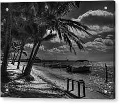 San Pedro 001 Bw Acrylic Print by Lance Vaughn