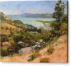 San Rafael Bay From Via La Cumbre, Greenbrae, Ca Acrylic Print by Peter Salwen