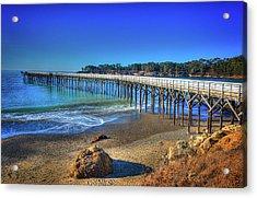 San Simeon Pier California Coast Acrylic Print by James Hammond