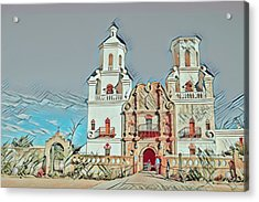 Acrylic Print featuring the photograph San Xavier Del Bac Remix One by Dan McManus