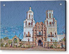 Acrylic Print featuring the photograph San Xavier Del Bac Remix Two by Dan McManus