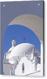 San Xavier Del Bac Acrylic Print by Sandra Bronstein