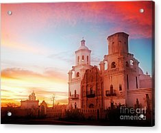 Acrylic Print featuring the photograph San Xavier Del Bac by Scott Kemper