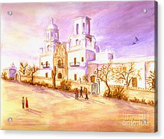 Acrylic Print featuring the painting San Xavier by Judy Filarecki