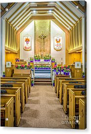 Acrylic Print featuring the photograph Sanctuary At Easter by Nick Zelinsky