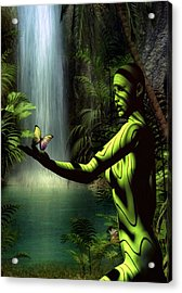Acrylic Print featuring the digital art Sanctuary by Shadowlea Is