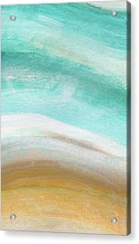 Sand And Saltwater- Abstract Art By Linda Woods Acrylic Print by Linda Woods