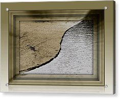 Sand And Water Acrylic Print by Dottie Dees