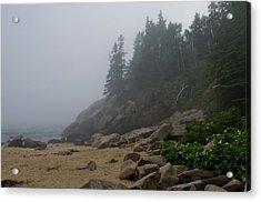 Sand Beach In A Fog Acrylic Print