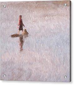 Sand Castle Acrylic Print by Robert Bissett
