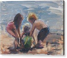 Sand Castles Acrylic Print by Denise Lockhart Bush