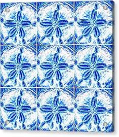 Sand Dollar Delight Pattern 3 Acrylic Print