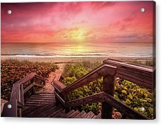 Acrylic Print featuring the photograph Sand Dune Morning by Debra and Dave Vanderlaan