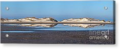 Sand Dune Reflections On The Outer Banks Acrylic Print by Dan Carmichael
