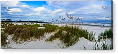 Sand Dunes And Blue Skys Acrylic Print