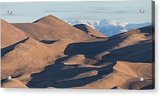 Sand Dunes And Rocky Mountains Panorama Acrylic Print by James BO Insogna