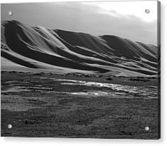 Sand Dunes Of The Gobi Acrylic Print