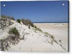 Sand Dunes On Assateague Island National Seashore - Maryland Acrylic Print by Brendan Reals