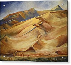 Acrylic Print featuring the painting Sand Dunes by Roena King