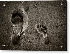 Acrylic Print featuring the photograph Sand Feet by Lora Lee Chapman
