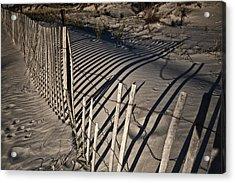 Sand Fence Acrylic Print by Joel P Black