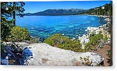 Sand Harbor Lake Tahoe Panorama Acrylic Print by LeeAnn McLaneGoetz McLaneGoetzStudioLLCcom