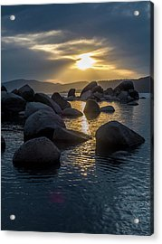 Sand Harbor Light Acrylic Print