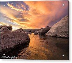 Sand Harbor Rocks Acrylic Print