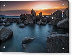 Sand Harbor Sunset Acrylic Print