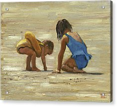 Sand Play Acrylic Print by John Reynolds