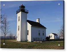 Sand Point Lighthouse In Escanaba Acrylic Print