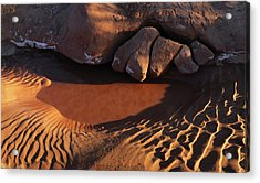Sand Puddle Acrylic Print by Jerry LoFaro