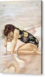 Sand Puddles Acrylic Print by Gladiola Sotomayor