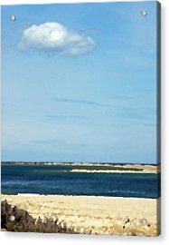 Acrylic Print featuring the photograph Sand Sea And Sky by Brooke T Ryan