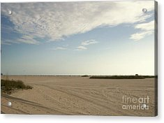 Sand Storm At St. Pete Beach Acrylic Print by Gail Kent