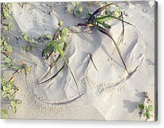 Sand Sumie One Acrylic Print by Clyde Replogle