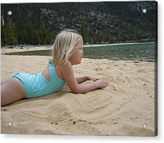 Acrylic Print featuring the photograph Sand Sun And Someone You Love by Dan Whittemore