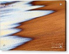 Sand And Waves Acrylic Print