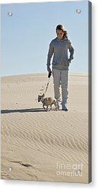 Acrylic Print featuring the photograph Sand Walk by Tara Lynn