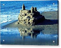 Sandcastle On Beach Acrylic Print by Garry Gay