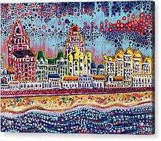 Sandcastles Acrylic Print by Christie Mealo